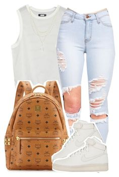 """""""one last time"""" by kiaratee ❤ liked on Polyvore featuring MCM, Alicia Marilyn Designs and NIKE"""