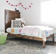 Ana White   Simple Planked Wood Bed - DIY Projects