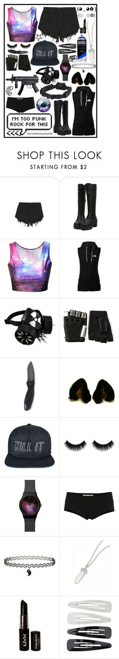 """""""Andromeda"""" by cupa1213 ❤ liked on Polyvore featuring Nana Judy, The North Face, Majesty Black, Lowepro, Kershaw, Maison Kitsuné, A Question Of, Marni, Topshop and NYX"""