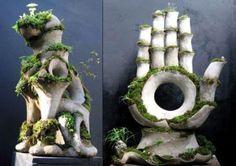 sculpture + plants...by Robert Cannon