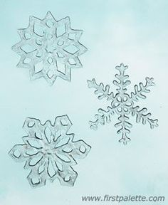 Snowflake Window Clings Tutorial with printable