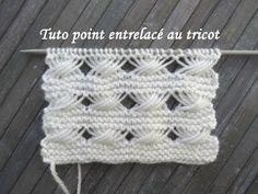 TUTO POINT TORSADE ENTRELAC Entrelac stitch knitting PUNTO TORSADAS ENTRELAZADO DOS AGUJAS - YouTube