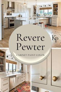 Kitchen Cabinet Colors, Painting Kitchen Cabinets, Kitchen Paint, Kitchen Redo, New Kitchen, Kitchen Remodel, Kitchen Ideas, Design Kitchen, Kitchen Cabinets Color Combination