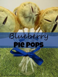 Blueberry Pie Pops