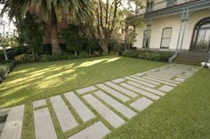 Eco Outdoor - Flooring - Bluestone in custom lengths used for front path.
