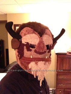 Homemade Beast Mask from Beauty and the Beast... This website is the Pinterest of costumes