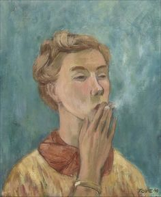 Moomin creator Tove Jansson celebrated with retrospective at Dulwich Picture Gallery Les Moomins, Dulwich Picture Gallery, Miss Moss, Tove Jansson, Portraits, Girl Smoking, Art Fair, Helsinki, Art Inspo