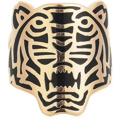 KENZO Rose Gold Plated Tiger Ring (215 BRL) ❤ liked on Polyvore featuring jewelry, rings, accessories, black and other, kenzo jewelry, rose gold plated ring, kenzo and rose gold plated jewelry