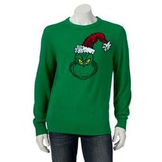 Dr. Seuss How The Grinch Stole Christmas Grinch Sweater - Men