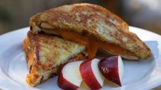 French toast and fresh apples with fig or maple spread add a new dimension to a grilled cheese sandwich. This recipe is perfect for cutting into bite-size appetizers or can be enjoyed as a snack or meal. Ingredients 8 1/2-inch-thick slices good quality white bread 1/3 cup dark amber maple syrup combined with 1/3 cup …