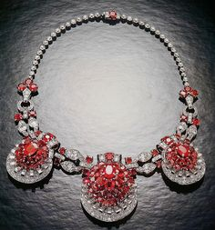 Cartier New York Art Deco Ruby Diamond Necklace by Clive Kandel, via Flickr