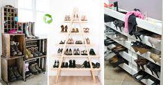 Scarpiere creative fai da te. In questo post troverete 20 idee creative per realizzare una bella scarpiera! 20 foto da cui trarre ispirazione! buona visione