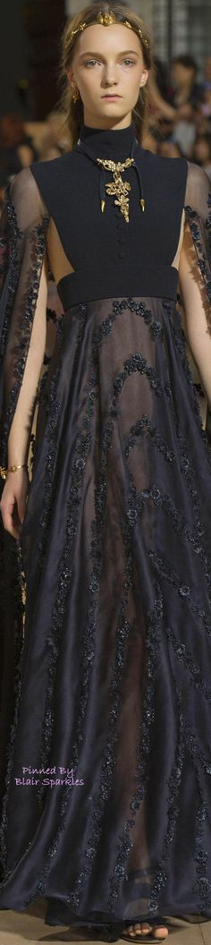 【ドレス Dresses 黒 black ゴールド gold】FALL COUTURE 2015 VALENTINO (Rome) ~ ♕♚εїз | BLAIR SPARKLES |