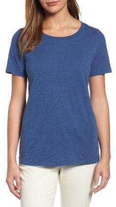 ba1aae329 Eileen Fisher Organic Cotton Tee $68 Classic crew neck tee, sustainable  http://