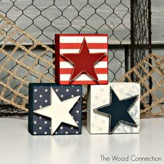 The Wood Connection - Star Block Trio, $4.50 (http://thewoodconnection.com/star-block-trio/)