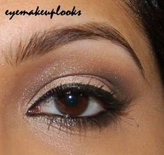 #Makeup  Trendy Makeup Ideas -  Smokey Eyes : Items used:  Lid: NYX cottage cheese jumbo pencil, MAC Naked pigment  Crease: Ur...