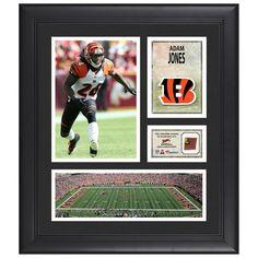 "Adam Jones Cincinnati Bengals Fanatics Authentic Framed 15"" x 17"" Collage with Piece of Game-Used Football"