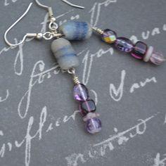 Handmade African Blue Recycled Krobo Purple by dwhitecreations