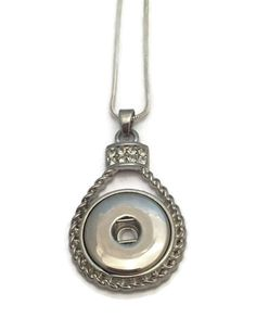 Snap Jewelry Snap Necklace Snap Pendant Necklace Fits all standard 18mm snap buttons and charms.  Your choice of either an 18 inch or 28 inch necklace.  by WAHMTeam