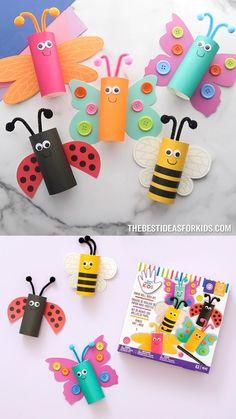 Toddler Arts And Crafts, Spring Crafts For Kids, Craft Projects For Kids, Craft Activities For Kids, Art For Kids, Arts And Crafts Projects, Toilet Paper Crafts, Paper Roll Crafts, Paper Crafts For Kids
