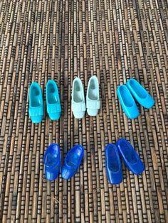 Barbie Vintage Lot Japan Shoes Blue Exc And Rare 60s   eBay