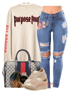 """""""{Smoke some,Drink Some,Pop One}"""" by xbad-gyalx ❤ liked on Polyvore featuring Gucci, MANGO, FOSSIL, Puma and Humble Chic"""