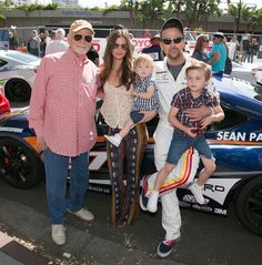 Sean Patrick Flanery and family at the Toyota Grand Prix of Long Beach. Sean Patrick Flanery, Long Beach, Grand Prix, Toyota, Baby Strollers, Children, Baby Prams, Young Children, Boys