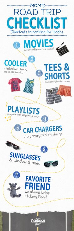 Mom's Road Trip Checklist: shortcuts to packing for kiddos. #MomTip