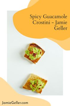 Swap the tortilla chips for garlicky toasts with this top-rated recipe for fast and fresh Guacamole Crostini. #pareve #appetizer #breakfast Fresh Guacamole, 5 Ingredient Recipes, Party Platters, Ripe Avocado, Artisan Bread, Tortilla Chips, Quick Easy Meals, Top Rated, Spicy