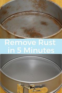 How to remove rust. This cleaning hacks will save you money by making your old pans look new again. Cleaning life hacks get your pans clean. Household cleaning tips clean your pans naturally. Deep cleaning house your pans. Deep Cleaning Tips, House Cleaning Tips, Diy Cleaning Products, Cleaning Solutions, Cleaning Hacks, Cleaning Rust, Cleaning Recipes, Hacks Diy, Cleaning Aluminum Pans