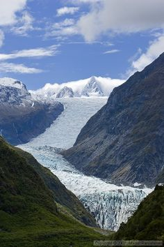 Fox Glacier, South Island, New Zealand.Uno de los fantasticos glaciales de la Isla del Sur