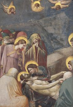 Giotto di Bondone, Lamentation of Christ, ca. 1305, detail, Santa Maria dell'Arena chapel fresco, Padua.