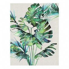 Art Group 'Monstera Leaves' by Summer Thornton Painting Print Canvas Art Prints, Painting Prints, Canvas Wall Art, Painting Art, Framed Prints, White Canvas Art, Leaf Drawing, Metal Tree Wall Art, Painted Leaves