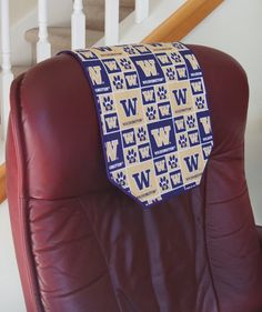 Items similar to Recliner Chair Headrest Cover - University of Washington Chair Runner on Etsy Diy Furniture Covers, Make And Sell, Recliner, Washington, University, Rest, College, Quilts, Things To Sell