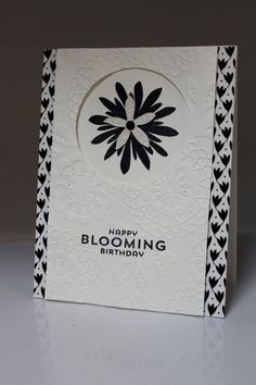 """Stamp-a-Stack July 2014 with demonstrator Dianna Nicholson. Stampin Up: """"Happy Blooming Birthday"""", """"Flower Patch"""" stamp set, FLower Fair Framelits, designer paper, lovely lace folder"""