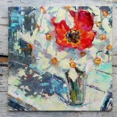 """Daily Paintworks - """"Bouquet of Daffodils"""" - Original Fine Art for Sale - © Valerie Lazareva 3 Arts, Paint Party, Original Paintings, Oil Paintings, Fine Art Gallery, Daffodils, Impressionism, Art For Sale, 2018 Year"""