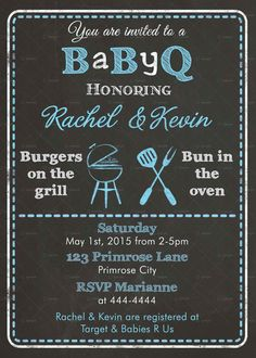 Hey, I found this really awesome Etsy listing at https://www.etsy.com/listing/230764472/co-ed-baby-q-shower-invitation-bbq-boy