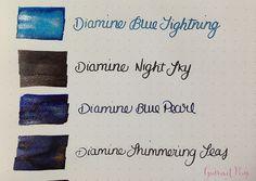 Ink Shot Preview Diamine Shimmer Inks (2)