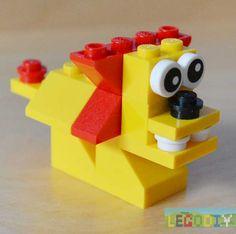 lego lion from #legoclassic bricks. Photo instruction