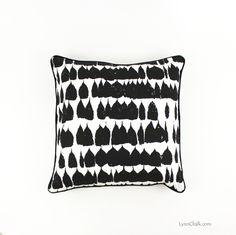 Schumacher Queen of Spain Black Pillows with Black Welting (both sides)