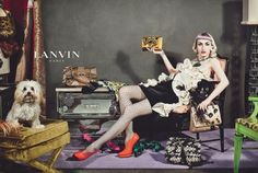 """""""real women and men, ranging in age from 18 to 80,"""" including a waiter, a milliner, and a recent U.S. immigrant, posed for Lanvin's newest advertisements, shot by Steven Meisel in New York."""
