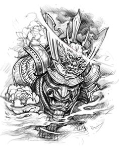 Tattoo Inspiration from Samurai - Dragons and Asian - # . - Tattoo inspiration from samurai – dragons and asian – - Irezumi Tattoos, Oni Tattoo, Hanya Tattoo, Samurai Warrior Tattoo, Warrior Tattoos, Samurai Tattoo Sleeve, Japanese Mask Tattoo, Japanese Tattoo Designs, Japanese Warrior Tattoo