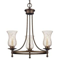 Grace 3-Light Rubbed Bronze Chandelier, 14690 at The Home Depot - Mobile -- dining room?