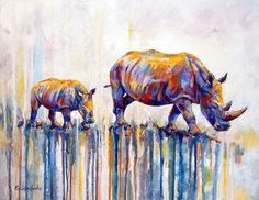 Paint By Number DIY Oil Painting By Number Rhinoceros Animal Canvas Oil Painting Kit by AniqueCo on Etsy Rhino Animal, Rhino Art, Acrylic Painting Canvas, Diy Painting, Painting Abstract, Rhino Tattoo, Paint By Number Diy, Paint Set, Arte Elemental