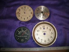 Lot of 4 dials one from General Electric 3 clock by SteamPunkDaddy, $5.00