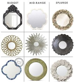 Savvy Home: Looking For: A Round Mirror