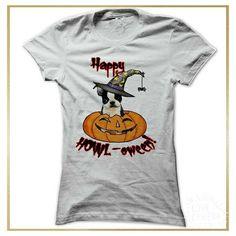 Boston Terrior tshirt - happy howl-oween