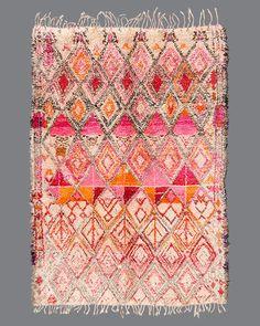 Vintage Moroccan rug, Beni Ouarain #BO158