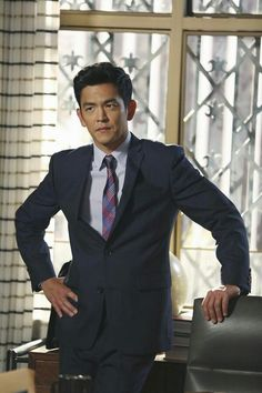 """Larry's review called Henry """"a stone-cold stud """" Critics reviews say Selfie never should have been canceled! Join the #saveselfie movement! John Cho as Henry Higgs, Karen Gillan as Eliza """"The Doolio"""" Dooley, David Harewood as Sam Saperstein #SelfieHulu #SelfieABC"""