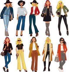 Fashion illustration for Cristina Cordula by Solène Debiès Fashion Tv, Fashion Mode, Woman Illustration, Character Illustration, Cat Ideas, Tv Mode, Character Inspiration, Character Design, Fashion Vector